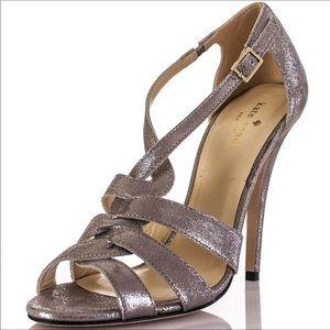 Kate Spade leather metallic heels 👠